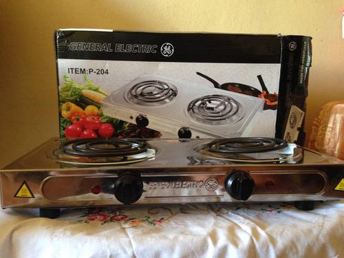 Cocina electrica 2 hornillas general electric bs for Cocina 02 hornillas