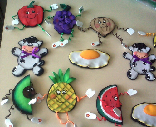 Frutas para la nevera foami - Imagui