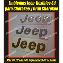 Emblema Jeep Flexible Relieve Para Cherokee, Grand Cherokee