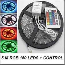 Cinta De Led 5050 Laser Rgb, Multicolor Rollo 5mts 150 Led