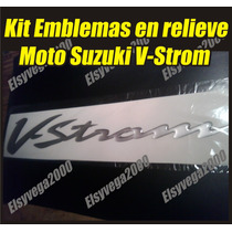 Kit Emblemas Calcomanias En Relieve Moto Suzuki V-strom