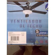 Ventilador De Techo Con Lampara 5 Aspas