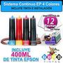Sistema Continuo Ep 4 Colores Mas Tintas E Instalacion