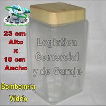 Bombonera Dulcera Vidrio Hermetica Galletas Dulces Algodon