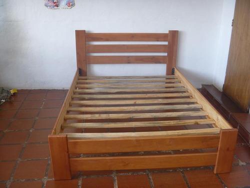 Cama matrimonial de madera nueva bs syv4n precio for Modelos de cama quinsay de madera