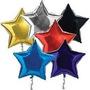 Globos Metalizados De Estrella Unicolor De 18