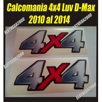 Kit De Calcomamanias 4x4 Chevrolet Luv D-max 2010, Al 2014