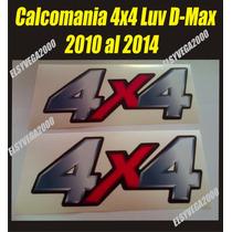 Kit De Calcomamanias 4x4 Chevrolet Luv D-max 2010, Al 2014
