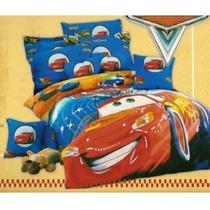 Edredon + Sabanas Tamaño Individual De Cars