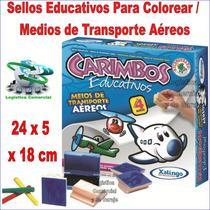 Sellos Material Educativo Maestros Niños Transporte Aéreo