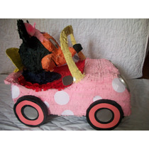 Piñata Minnie Mouse En Su Carro