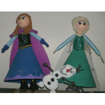 Muñecas Elsa Y Anna De Frozen En Foami