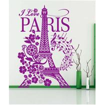 Vinilos Decorativos I Love Torre Eiffel Grande-paredes-