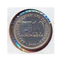 Moneda 10 Bolivares 2000