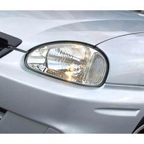 Faros Corsa Chevrolet 98/2006 De Vidrio Fondo Cromado Nuevos