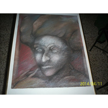 Obra En Carboncillo Y Pastel Jorge Estrada Año 81
