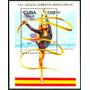 Estampilla Cuba Hoja Bloque 1992 Gimnasia Rítmica Con Cintas
