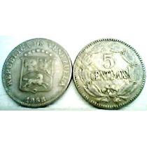 1958 Sin Circular Puya De 5 Céntimos De Venezuela