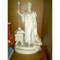 Espectacular Estatua Muy Antigua De´porcelana Blanca