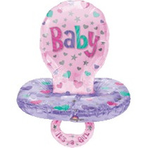 Globos Metalizados De Bebe, Baby Shower Chupon 29 Pulgadas