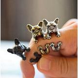 Anillos Con Forma De Perro Mascota Terrier Bulldog Potter