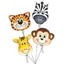 Globos Metalizados Bouquet Cabezas Animales Selva