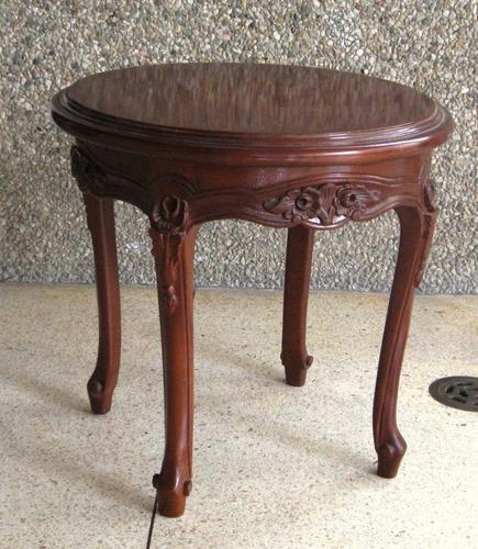 Mesas de madera caoba tallada estilo luis xv bs for Mesas de madera precios