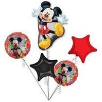 Globo Metalizado Bouquet De Mickey De Cuerpo Entero