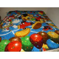 Cobija De Cama Individual D Piel De Durazno, Mickey Mouse, 2