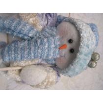 Muñeco De Nieve De Navidad Azul