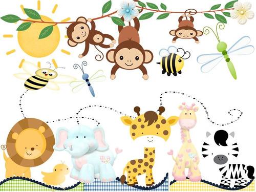 Kit Imprimible Animales Selva Mini Oferta 2x1 Tarjeta Fiesta Bs.F ...