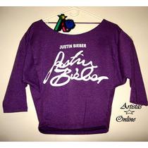 Camisa Justin Bieber Escote Suave En Espalda Talla S Juveni
