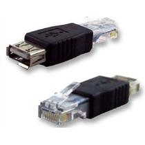 Convertidor Adaptador Rj45 Macho A Usb Hembra Lan Red Pc