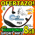 Wow Audifonos Mp3 Sport Recargable Soporta Hasta 8gb Microsd