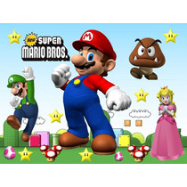 Kit Imprimible Mario Bros Tarjeta Decoracion Fiesta Globos