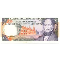 Billete De 50 Bolívares K8 Primera Serie De 1992