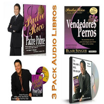 Combo De 3 Audio Libros Robert Kiyosaki Mp3 Padre Rico +bono