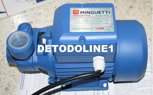 Bomba de agua el ctrica perif rica 1 2 hp minguetti garantia - Bomba agua electrica ...