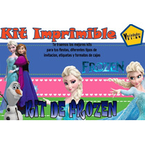 Kit Imprimible Frozen,invitaciones,fiesta,plantillas,ticket