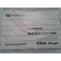 Manual Del Propietario Daihatsu Terios Bego 2008-2012