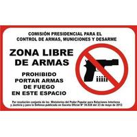 Aviso De Seguridad Prohibido Uso O Porte De Armas De Fuego.