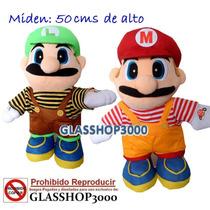 Peluches Mario Bross Y Luigui Mide 50 Cm De Alto