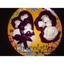 Cofres De Chocolate Corazón, Flor Regalo Obsequio Recuerdito