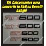 Kit Calcomanias Para Convertir Tu Rk6 En Benelli Bn600