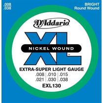 Set De Cuerdas D Addario Para Guitarra Electrica 008- Exl130