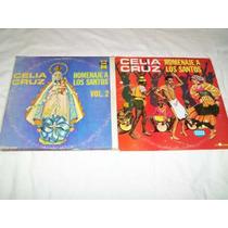 Celia Cruz Homenaje A Los Santos ( Disco De Vinil )