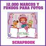 Scrapbooking Marcos Tarjetas Para Fotos Fondo Portarretratos