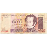 Billete De 10.000 Bolívares Agosto 16 De 2001 Serial B8