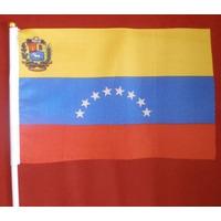 Bandera De Venezuela Con Su Asta Plastica Y Chupon