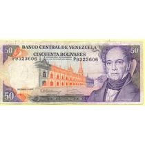 Billete 50 Bolivares Diciembre-8-1992 P7 F